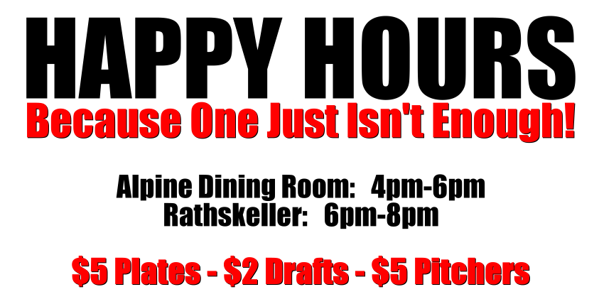 Learn More About Our Happy Hour Specials